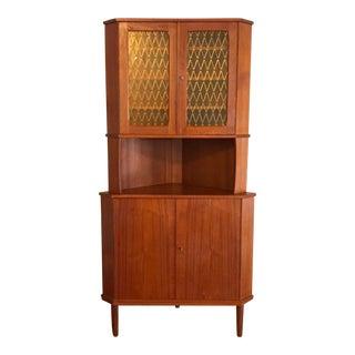 Mid-Century Modern Teak Corner Cabinet
