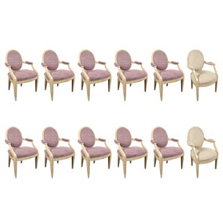 1980s Vintage Steve Chase Dining Chairs- Set of 12 For Sale