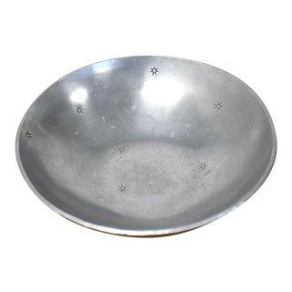 Palmer Smith Vintage Aluminum Bowl For Sale