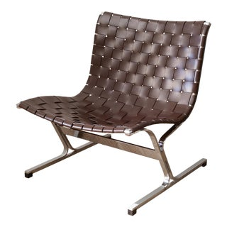 Mid-Century Ross Littell for Icf De Padova Laur Leather Lounge Chair C.1960 For Sale
