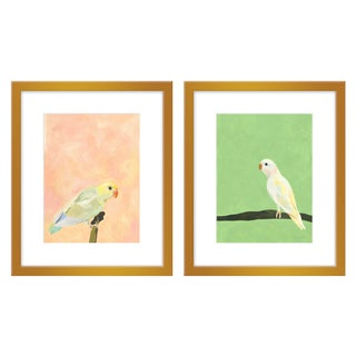 """Large """"Opal & Lucky, a Pair"""" Print by Neicy Frey, 34"""" X 21"""" For Sale"""