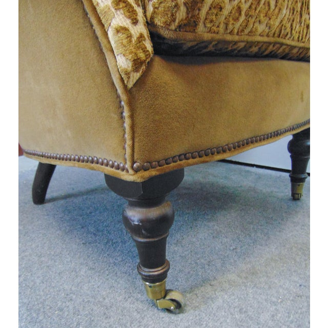 Late 20th Century Hollywood Regency Style Leopard Velvet Lounge Chairs - a Pair For Sale - Image 5 of 6