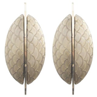 Luna Oro Sconces / Flush Mounts by Fabio Ltd - a Pair For Sale
