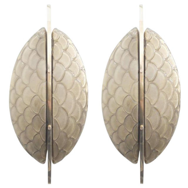 Pair of Luna Oro Sconces / Flush Mounts by Fabio Ltd For Sale