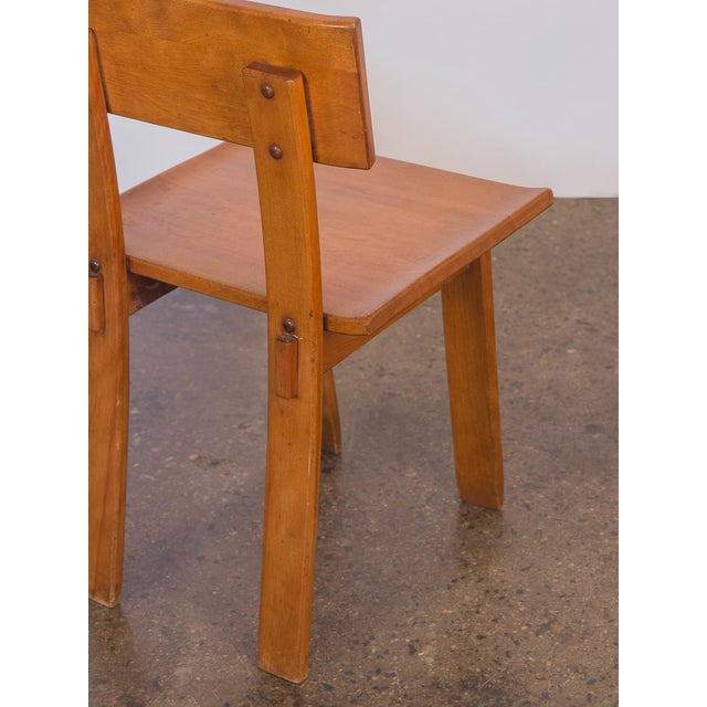 Conant Ball 1935 Russel Wright American Modern Side Chair For Sale - Image 4 of 11
