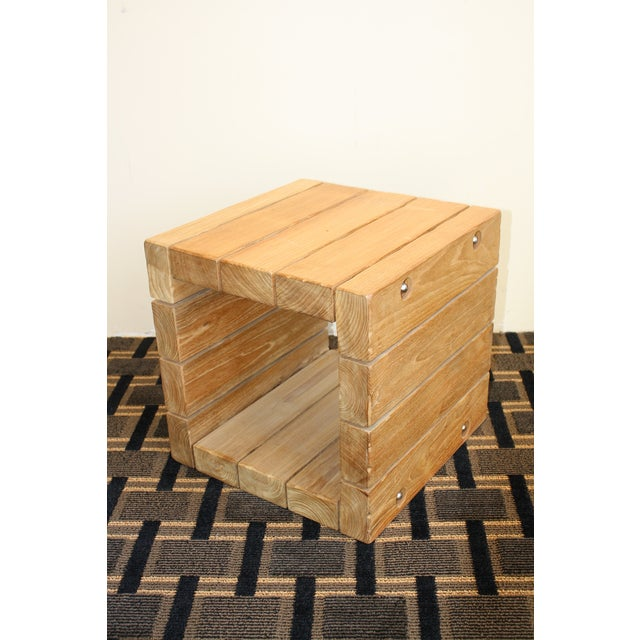 Contemporary McGuire Reclaimed Teak Farmhouse Spot Table For Sale - Image 3 of 6