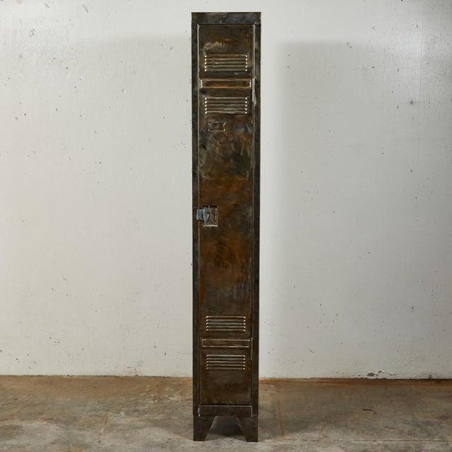 Metal German Industrial Metal Lockers, circa 1940 - A Pair For Sale - Image 7 of 10