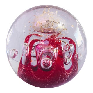 Murano Art Glass Paperweight For Sale