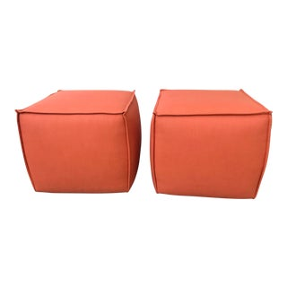 Modern Rolling Ottoman Cubes - A Pair For Sale