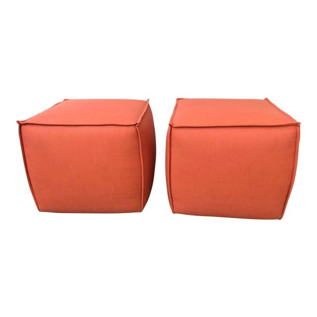 new york 2dac0 19526 Modern Rolling Ottoman Cubes - A Pair