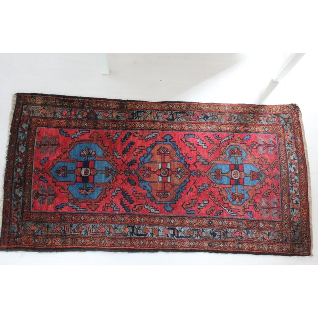 Antique Persian Rug - 3′1″ × 6′3″ - Image 2 of 4