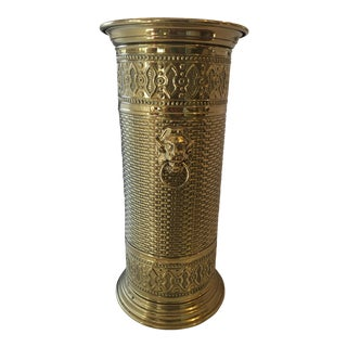 Moroccan Brass Umbrella Stand