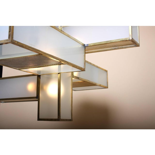 Geometric Chandelier Attributed to Jean Perzel For Sale - Image 9 of 10