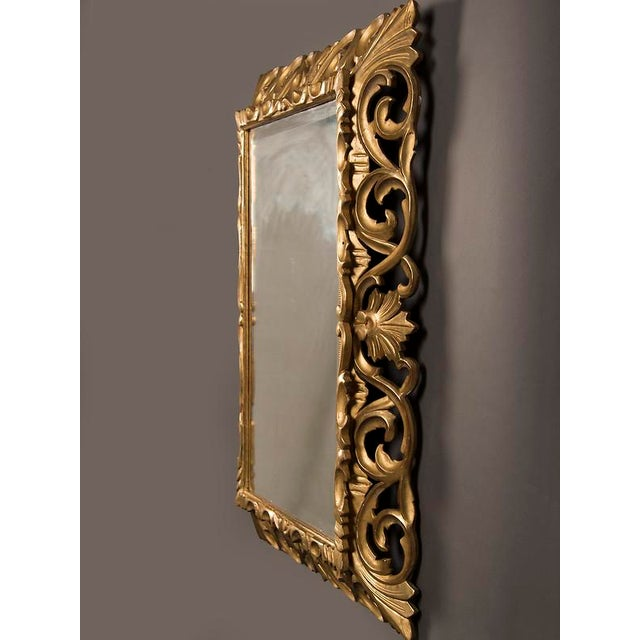 19th Century French Baroque Style Gold Leaf Framed Beveled Mirror For Sale - Image 4 of 8