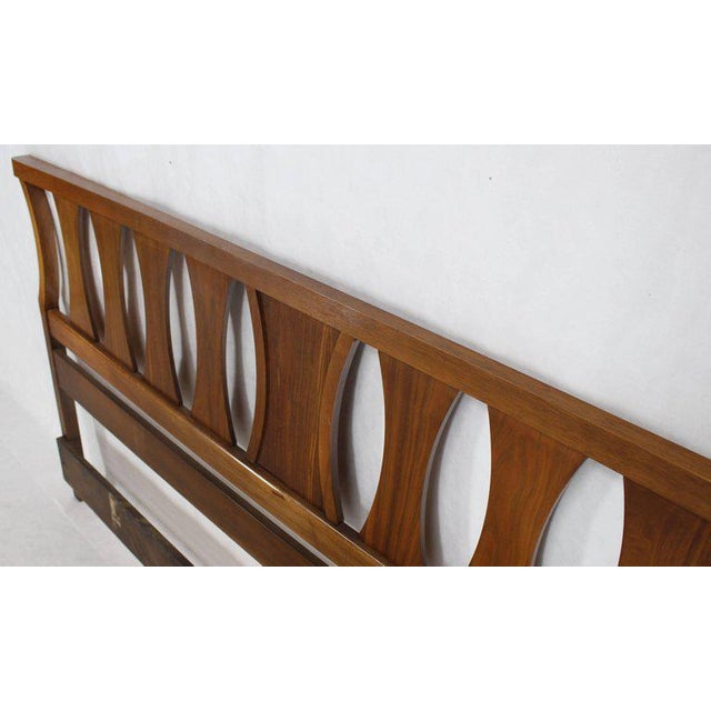 Mid-Century Modern King-Size Mid-Century Modern Walnut Headboard Bed For Sale - Image 3 of 7