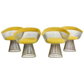 Set of Four Warren Platner Dining Chairs For Sale