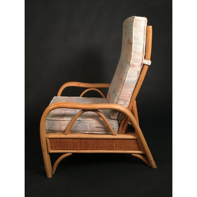 Vintage Rattan Recliner For Sale In Chicago - Image 6 of 8