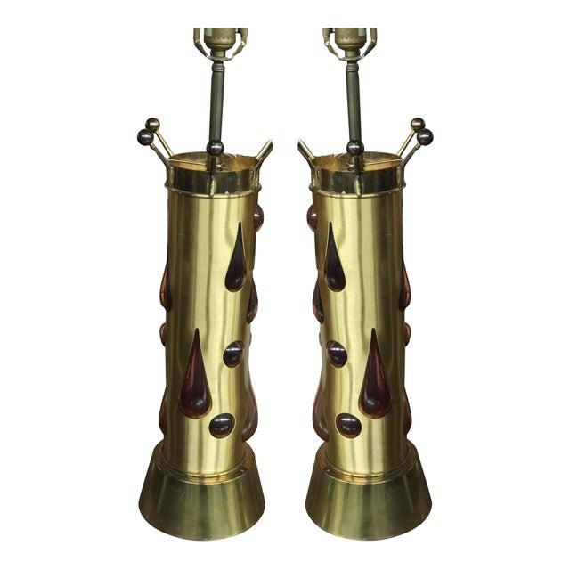1960s Felipe Derflingher Brutalist Table Lamps - a Pair For Sale - Image 5 of 5