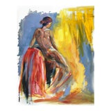 Image of Contemporary Expressionist Style Figurative Nude Oil Painting For Sale