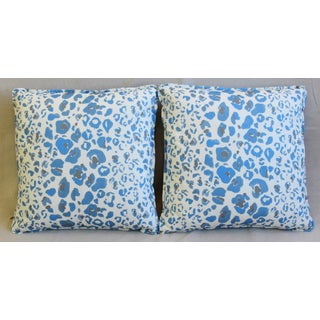 "Pindler & Pindler Leopard Animal Spot & Velvet Feather/Down Pillows 20"" Square - Pair Preview"