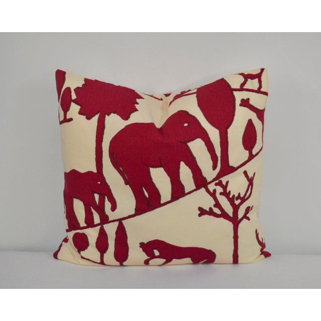 2010s Clarence House Cotton Elephant Pillow For Sale - Image 5 of 5