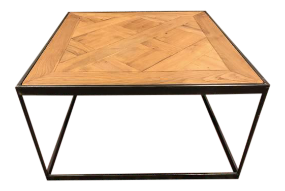 restoration hardware table. Restoration Hardware Oak Metal Coffee Table P