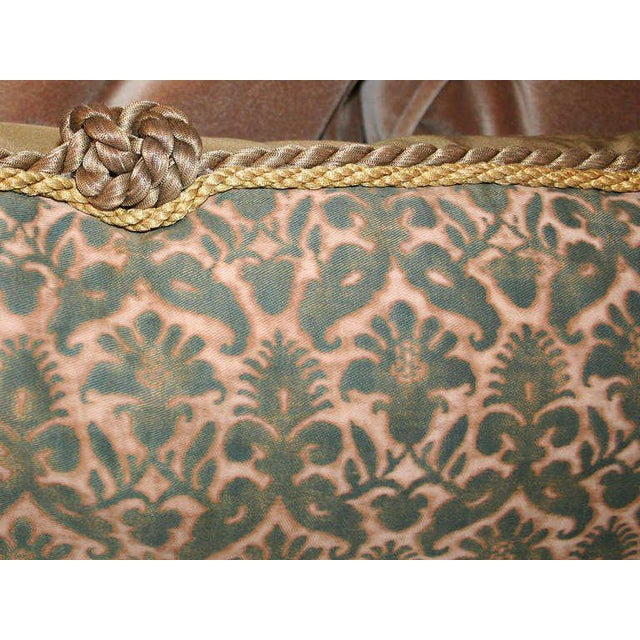 Fortuny Antique Fortuny Pillow For Sale - Image 4 of 5