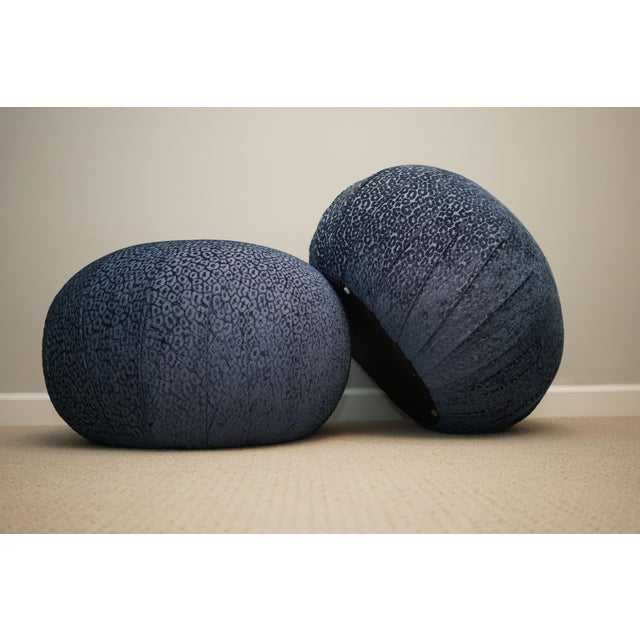 Vintage Mid Century Vladimir Kagan for Directional Pouf Soufflé Ottomans - a Pair For Sale In Raleigh - Image 6 of 6