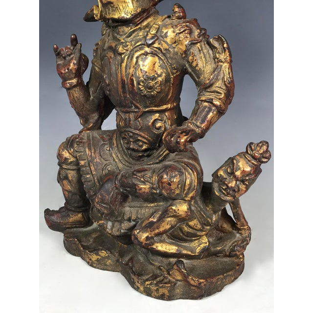 Chinese Art Carved Bronze Warrior For Sale - Image 11 of 11