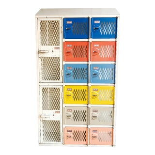 1980's Colorful Storage Locker For Sale