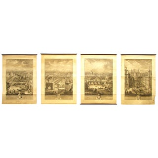 """1770s """"Grand View"""" Etchings of Rome by Giuseppe Vasi - Set of 4 For Sale"""