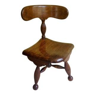19th Century Rare Oak Corner Chair For Sale