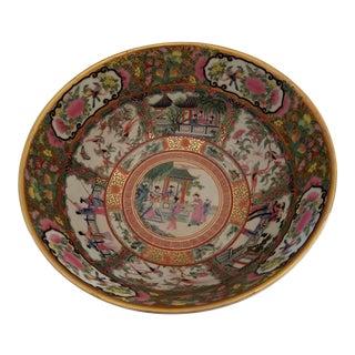 Japanese Chinese Imari Meiji Medallion Punch Bowl