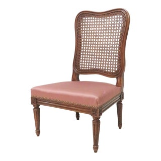 Louis XVI Style Caned Slipper Chair