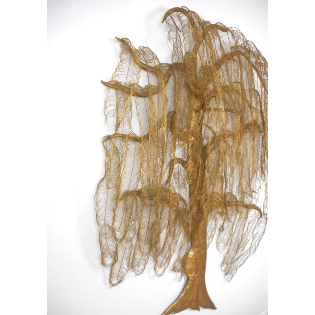 1970s Monumental Gold Metal Tree Wall Art Sculpture For Sale - Image 5 of 8