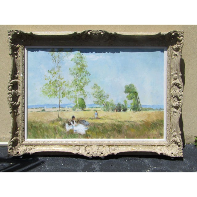 Eleanor Maurice Apres Monet Original Oil on Canvas For Sale - Image 5 of 5