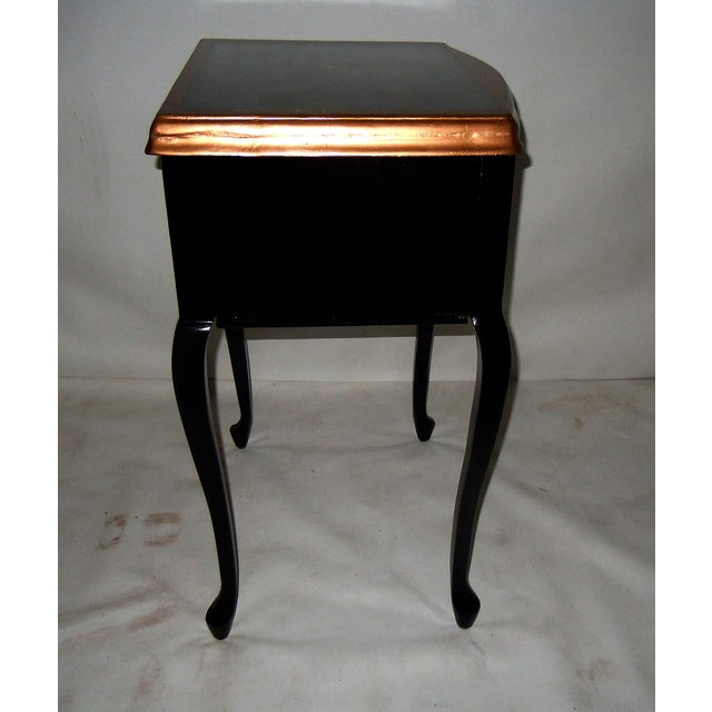 30s Mid Century Ebony Side Table - Image 4 of 8