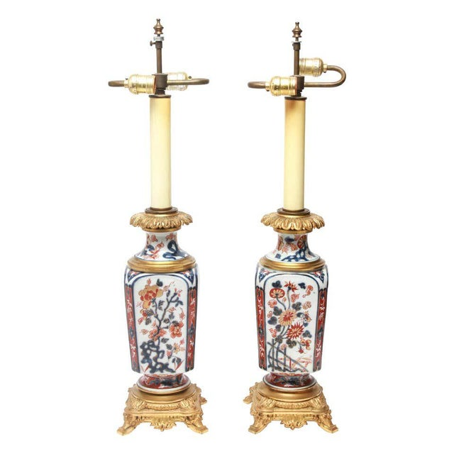 19th Century Japanese Imari Style Porcelain Table Lamps With Phoenix Motif - a Pair For Sale - Image 5 of 5