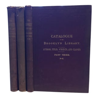 Catalogue of the Brooklyn Library, 1877 - Set of 3