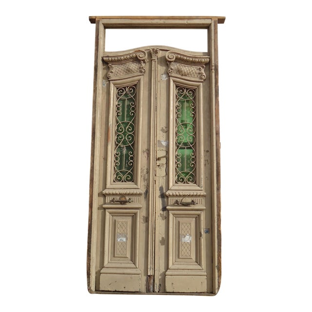 Antique Ornate South American Doors - A Pair For Sale