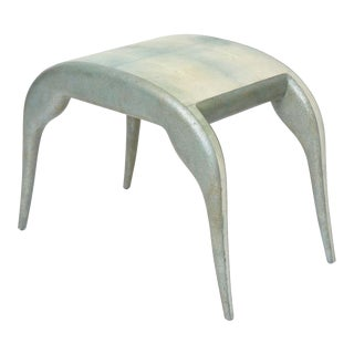 French Modern Shagreen Bench by R and Y Augousti For Sale