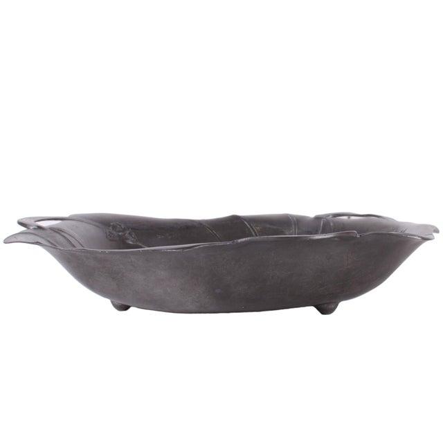 C.1900 Art Nouveau Jugendstil Pewter Bowl For Sale - Image 4 of 6