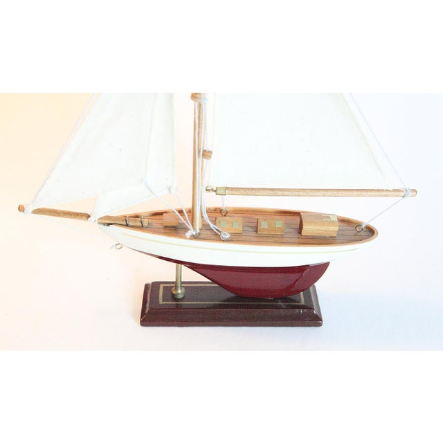 Late 20th Century Vintage Model Sail Boat For Sale - Image 5 of 6