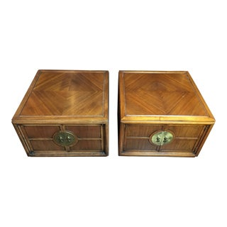 20th Century Chinoiserie Media Storage Cubes - a Pair For Sale