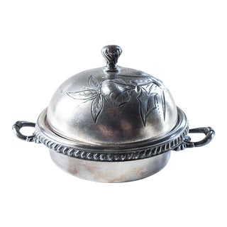Aesthetic Movement Silverplate Butter Dish For Sale