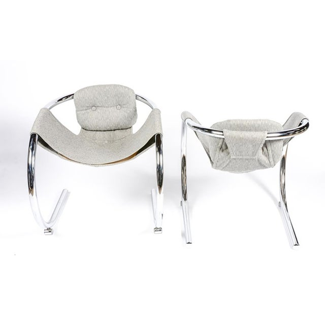 Modern Sculptural Byron Botker Chrome Dining Set For Sale - Image 3 of 7
