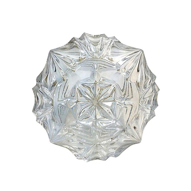 Press-Cut Glass Perfume Bottle For Sale - Image 4 of 6