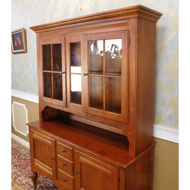 Wood Ethan Allen Country Crossings China Cabinet For Sale - Image 7 of 11