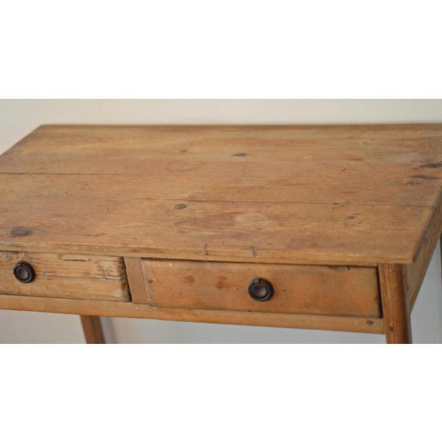 Antique French Farmhouse Pine Desk - Image 3 of 8
