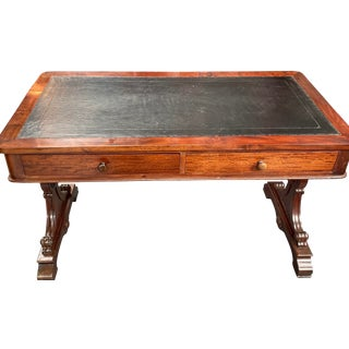 William IV Mahogany Desk With Leather Top For Sale